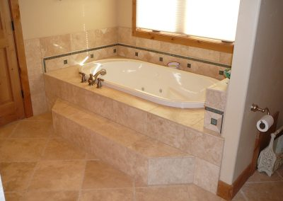 Residential custom bathroom master bathtub
