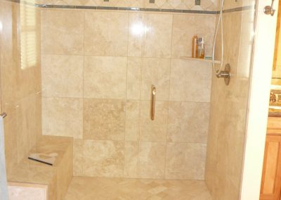 Residential custom bathroom master shower