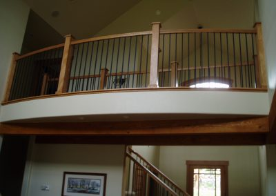 Custom built home with custom balcony and railing