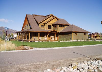 Custom built home in Steamboat Springs with wrap around porch.